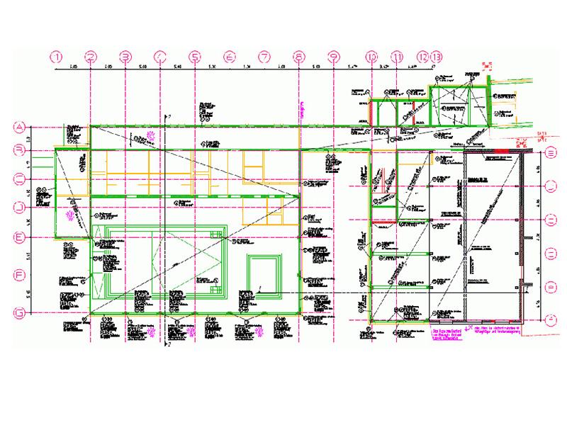Tragwerksplanung, Kliniken, Neubau, Ersatzneubau, Sanierung, Kurze Bauzeit, Aufwändige Hangbebauung, Klinik Hohe Warte, Therapiegebäude, Bayreuth