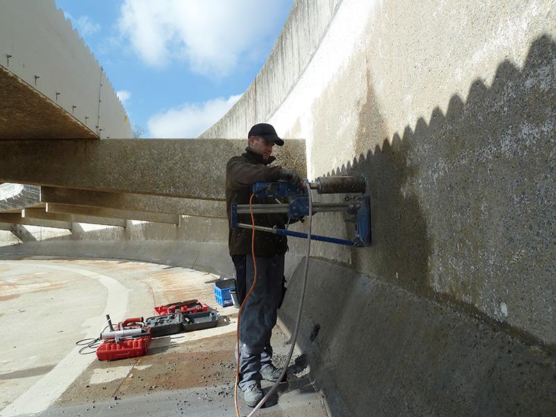 Instandhaltung, Betoninstandsetzung, Bauwerksprüfung, Betonuntersuchung, Sanierungskonzept, Nachklärbecken, Coburg