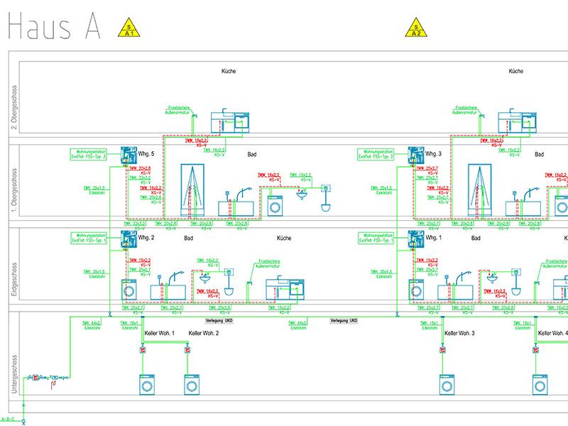 Gesamtplanung, Gebäudeplanung, Neubau, Wohnanlage, Tragwerksplanung, Neubau, Tiefgarage, Regensburg, Amberger Straße