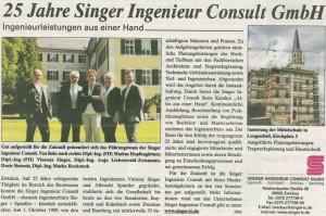 25 Jahre Singer Ingenieur Consult GmbH